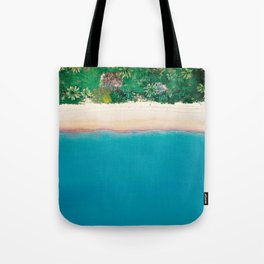 Tropical Beach Vibes | Aerial Photography  Tote Bag
