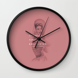 Ovaries Before Brovaries Wall Clock