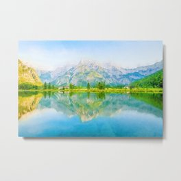 Lake reflections watercolor painting #5 Metal Print