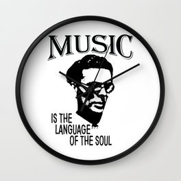 Music Is The Language Of The Soul | Aldous Leonard Huxley Wall Clock