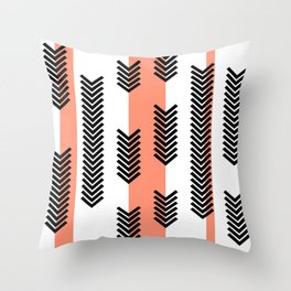 Arrows and stripes Throw Pillow