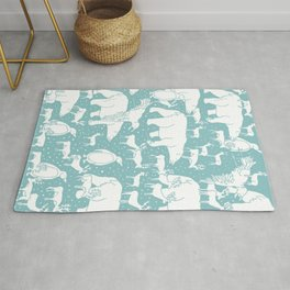 Polar gathering (peppermint) Rug