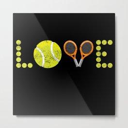 LOVE Tennis - Passion - Gift Idea Tennis Metal Print