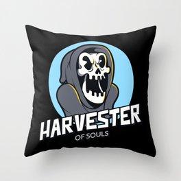 Grim Reaper Soul Harvester Halloween Throw Pillow