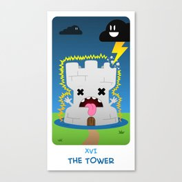 The Chibi Tarot - XVI The Tower Canvas Print