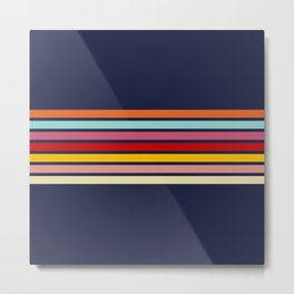 Barama - Classic Colorful Retro Stripes Metal Print