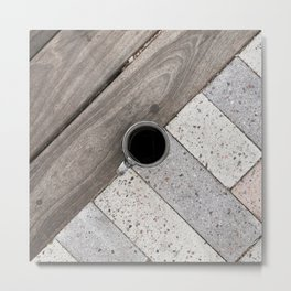 Artistic Cold Brew Shot // Wood & Stone Caffeine Pop Art Wall Hanging Coffee Shop Photograph Metal Print