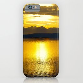 Sunset at Glacier NP iPhone Case