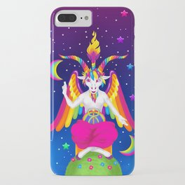 1997 Neon Rainbow Baphomet iPhone Case
