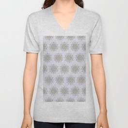 Mandalas in Blue Water Unisex V-Neck
