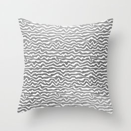 Elegant abstract faux silver foil geometric pattern Throw Pillow