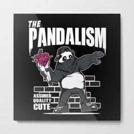 Pandalism - Cute Anarcho Panda Metal Print