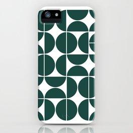 Mid Century Modern Geometric 04 Dark Green iPhone Case