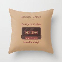 Cassettes. — Music Snob Tip #062 Throw Pillow