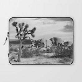 Black and White Joshua Tree National Park Laptop Sleeve