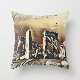 The Equinox at Stonehenge Throw Pillow