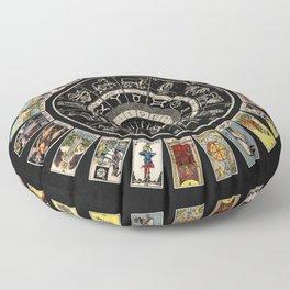The Major Arcana & The Wheel of the Zodiac Floor Pillow