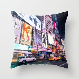 New York Neon Jungle Throw Pillow