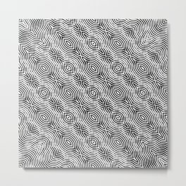 Monochrome Fingerprint Pattern Metal Print