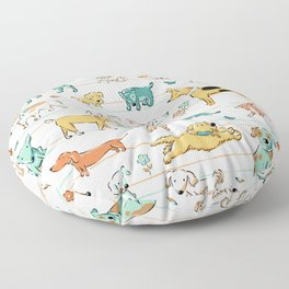 Dogs Dogs Dogs Floor Pillow