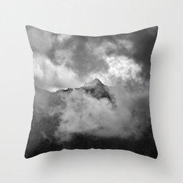 Misty Mountains. Alayos. Sierra Nevada. Bw Throw Pillow