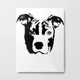 Pit Bull Terrier Dog Metal Print