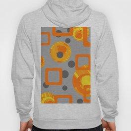 Orange yellow Rings Rectangles grey geometric Hoody