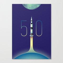 Apollo 11 Saturn V 50th anniversary Canvas Print