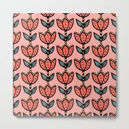 Big floral - coral5 Metal Print