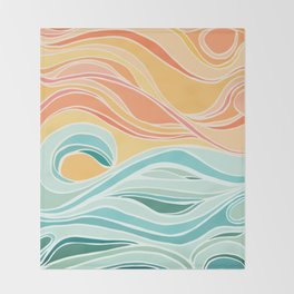 Sea and Sky II Throw Blanket