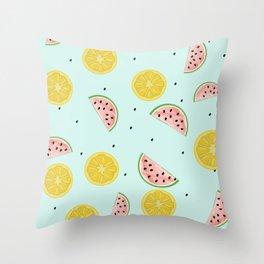 Lemon Waterlemon Throw Pillow
