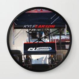 Kyle Larson motor heat Wall Clock