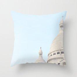 Blue Paris Throw Pillow
