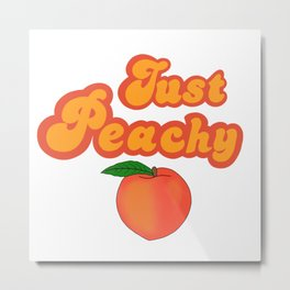 Just peachy Metal Print