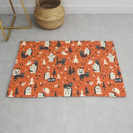 Cemetery Cuties (Orange) Rug