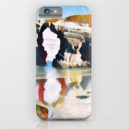 Playa De Las Catedrales Mirrored Elongated Surreal Cavity iPhone Case