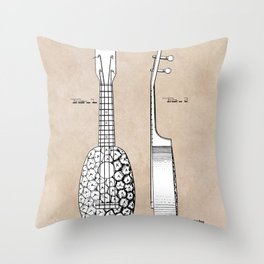 patent art Kamaka Ukulele 1927 Throw Pillow