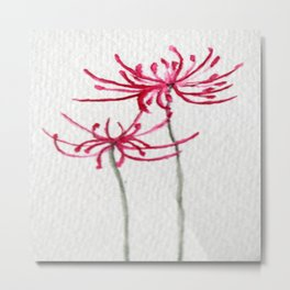 Delicate Red Flower Metal Print