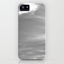 Sky in black & white iPhone Case