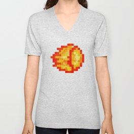 Polygon Pixel Fireball Hadouken - Street Fighter Unisex V-Neck