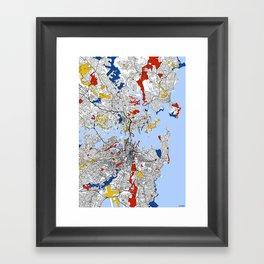 Sydney mondrian Framed Art Print