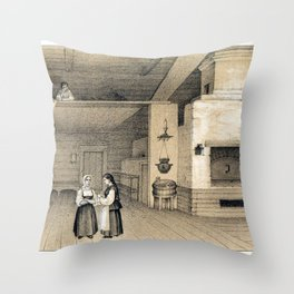 Peasant's House with an Oven Throw Pillow