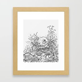 Dead Garden Framed Art Print