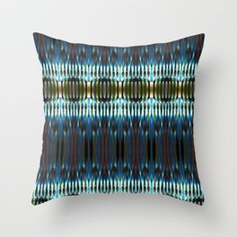 Meeting of the Society for the Advancement of Electric Q-Tips Throw Pillow
