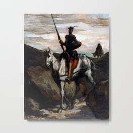 Honore Daumier Don Quixote in the Mountains Metal Print