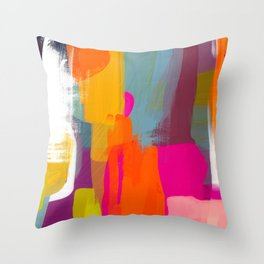 color study abstract art 2 Throw Pillow