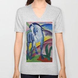 Franz Marc - Blaues Pferd - Blue Horse Unisex V-Neck