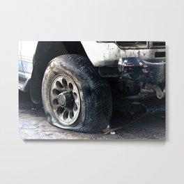 Flat Tire! Metal Print