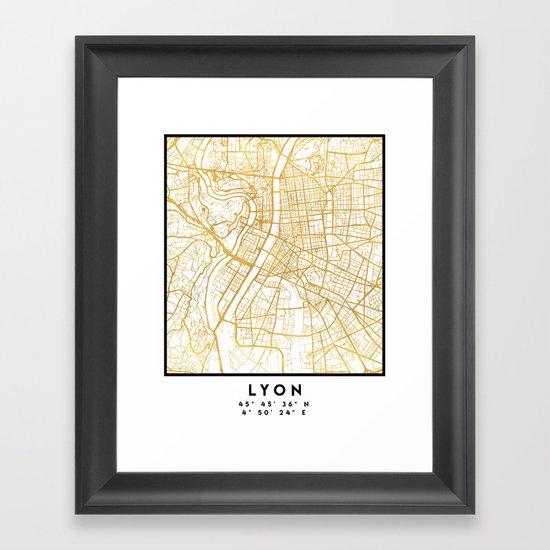 LYON FRANCE CITY STREET MAP ART by deificusart