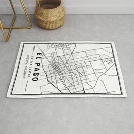 EL Paso Light City Map Rug